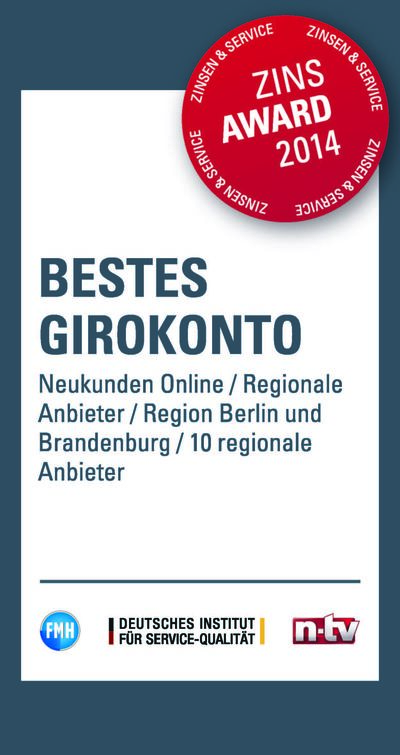 PSD Bank Berlin-Brandenburg: Girokonto